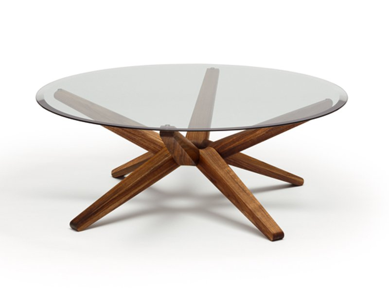 Table basse ronde en verre stern by team 7 nat rlich - Fabriquer table basse design ...