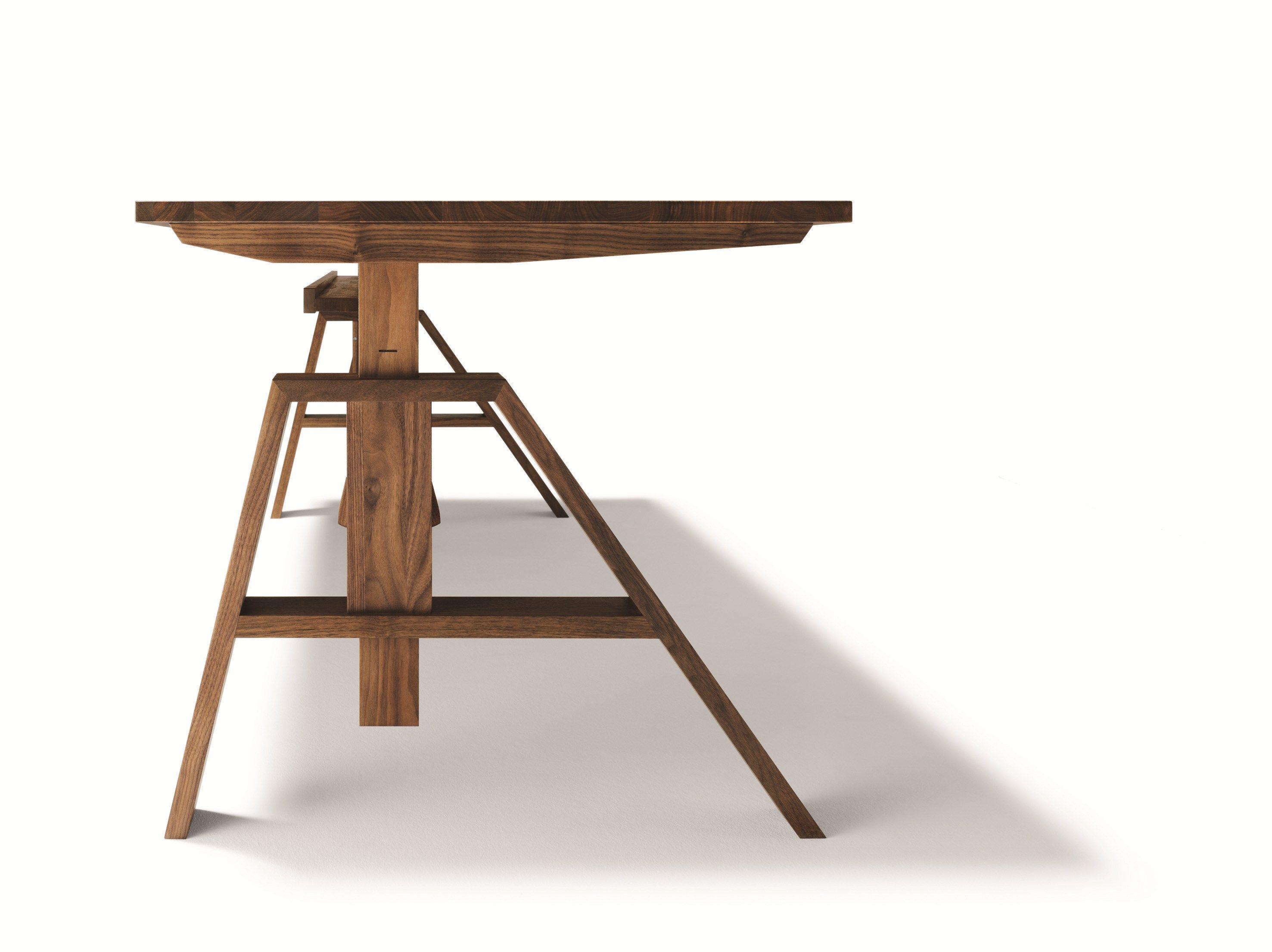 h henverstellbarer b ro schreibtisch atelier by team 7 nat rlich wohnen design kai stania. Black Bedroom Furniture Sets. Home Design Ideas