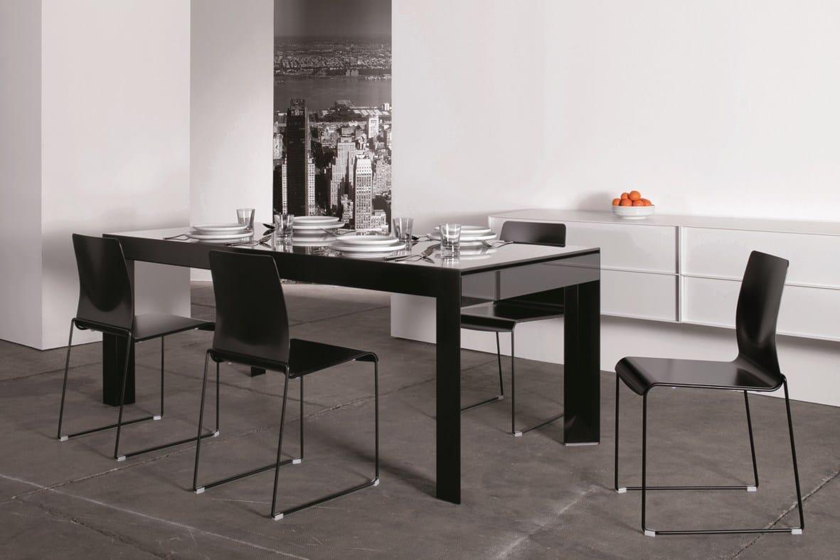 Riccardo tavolo by ydf design basaglia rota nodari - Tavoli da pranzo ferro battuto e vetro ...
