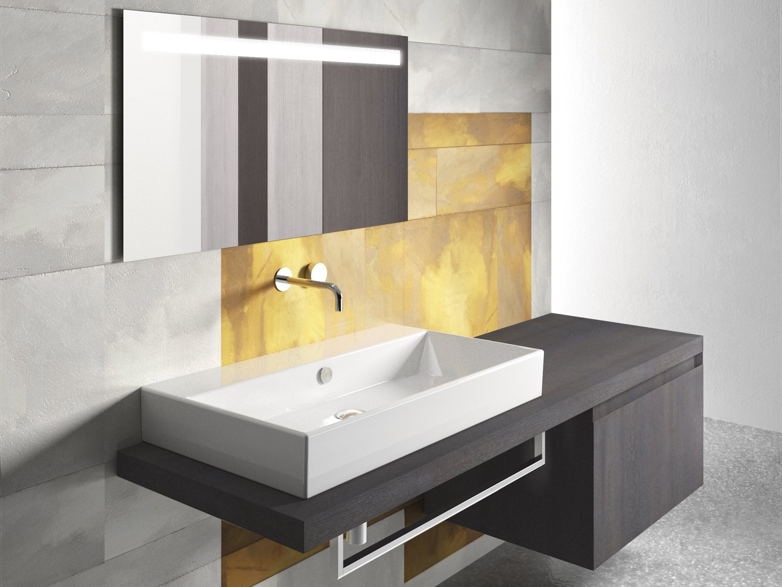 rectangular ceramic washbasin premium by ceramica catalano. Black Bedroom Furniture Sets. Home Design Ideas