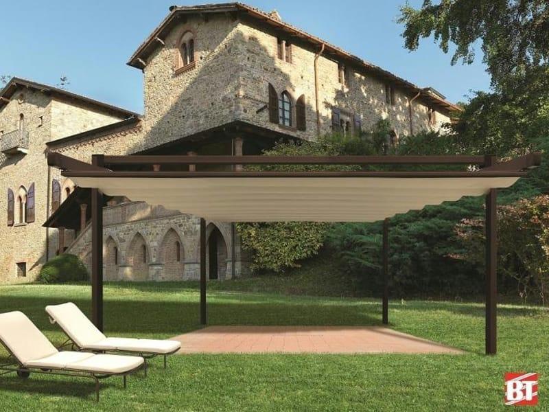 pergola en aluminium avec couverture coulissante r150. Black Bedroom Furniture Sets. Home Design Ideas