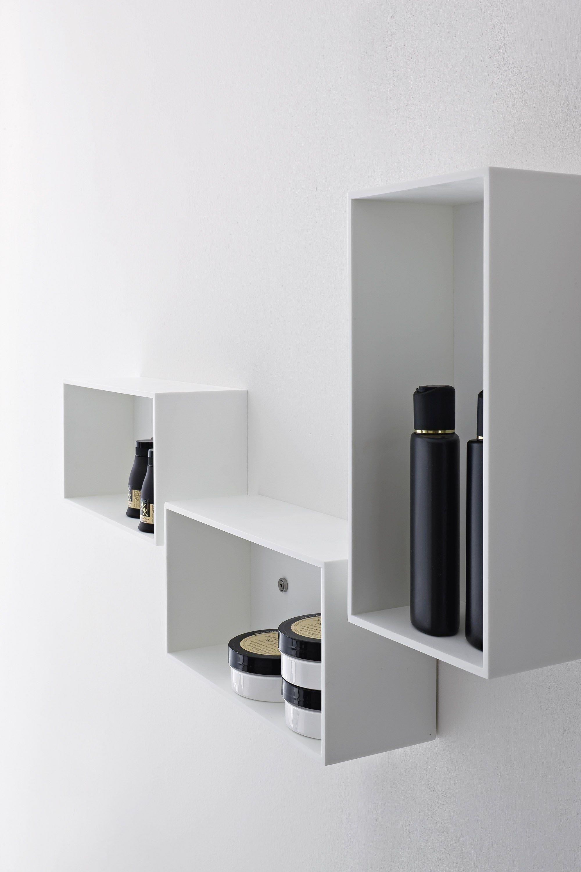 Meuble pour salle de bain suspendu by rexa design for Element salle de bain