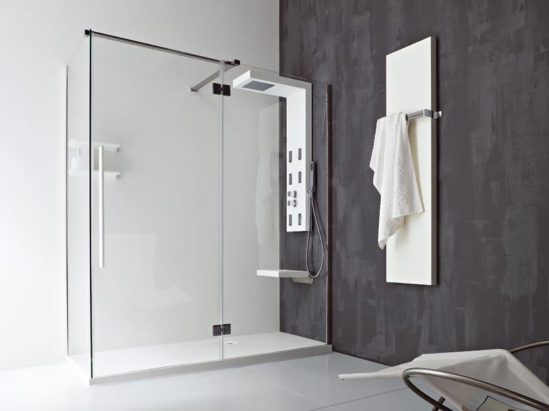 Parete In Vetro Doccia : Unico parete per doccia by rexa design imago