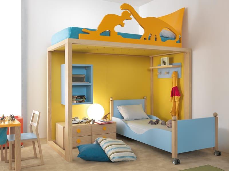 Cama simple de madera maciza para habitaciones de ni os - Ver camas para ninos ...
