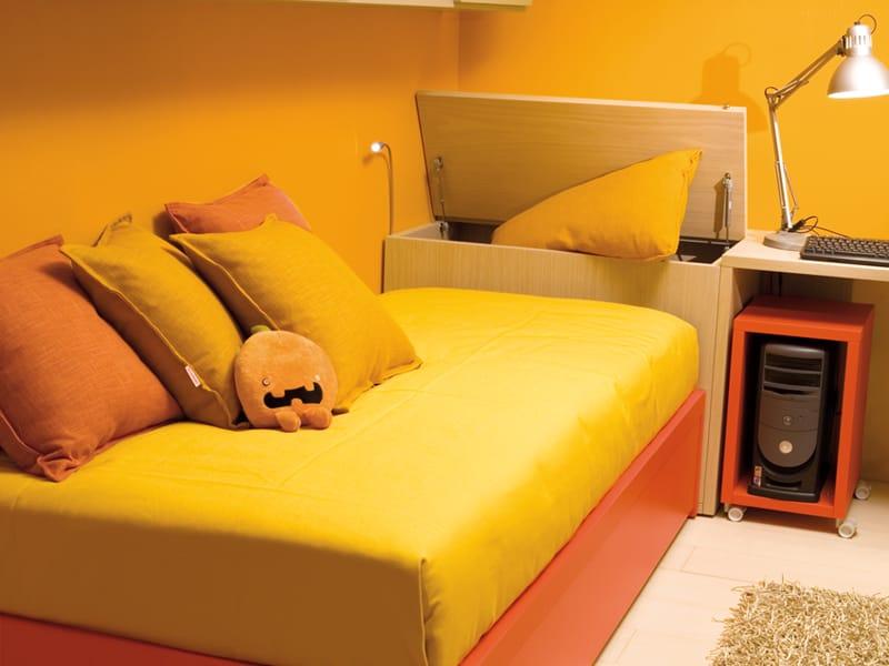 Compact letto con testiera contenitore by dearkids - Testiere letto singolo ...