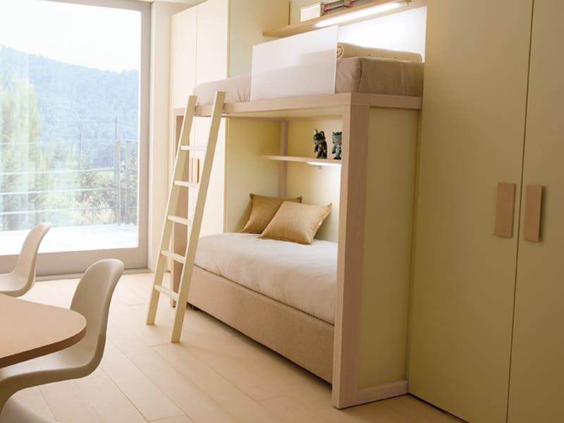 7001 letto by dearkids - Letto a castello in legno massello ...