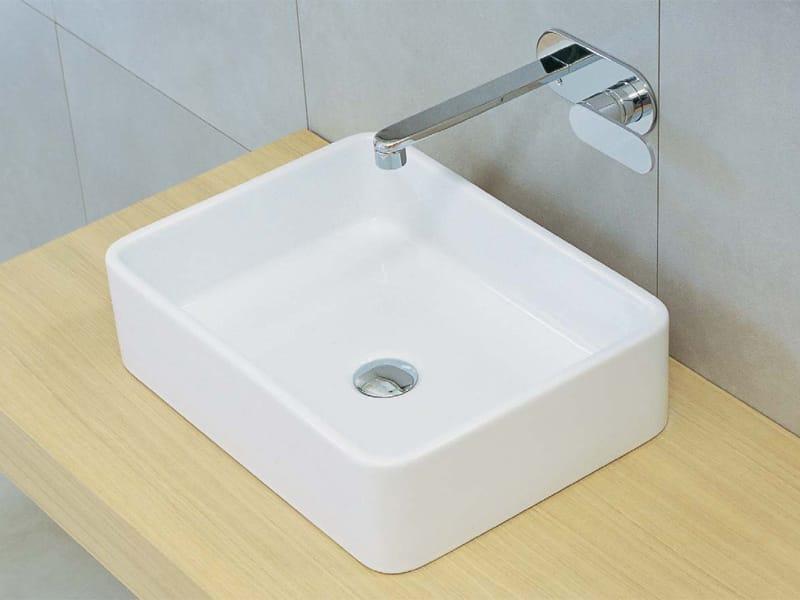 Lavabo da appoggio in ceramica miniwash linea monowash miniwash fly by ceramica flaminia - Galvan mobili bagno ...