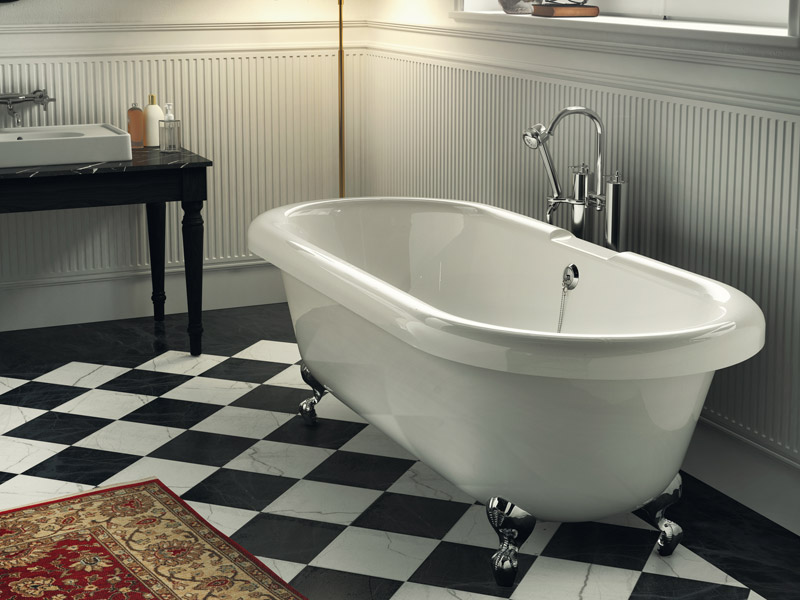Classic style bathtub on legs OLD AMERICA by Glass 1989