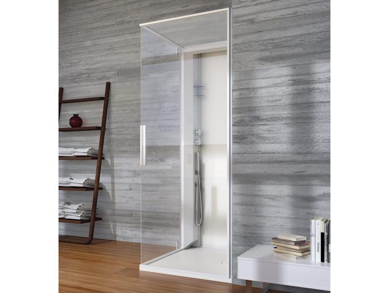 Skin box doccia rettangolare by glass 1989 design claudia - Box doccia con bagno turco prezzi ...