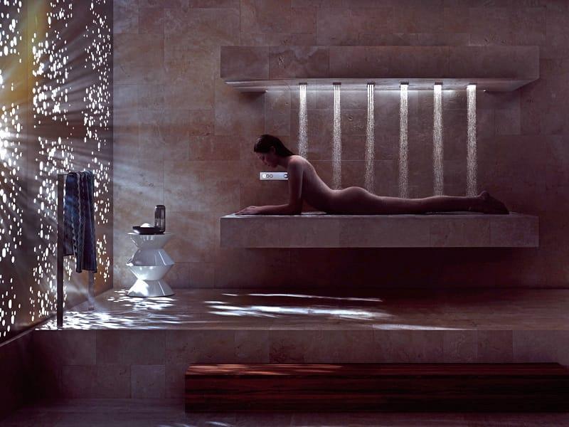 multifunction shower cabin horizontal shower by dornbracht. Black Bedroom Furniture Sets. Home Design Ideas