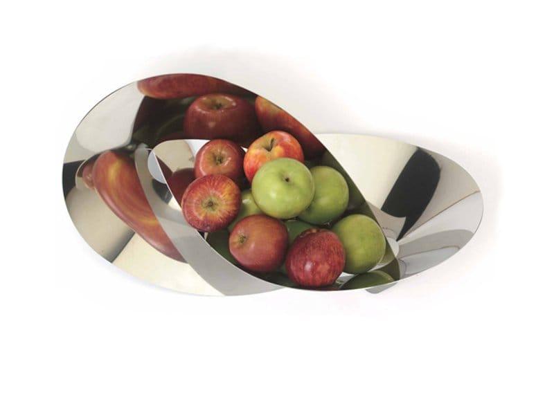 Frutero de acero inoxidable flat knot by movisi dise o for Mesa frutero cocina