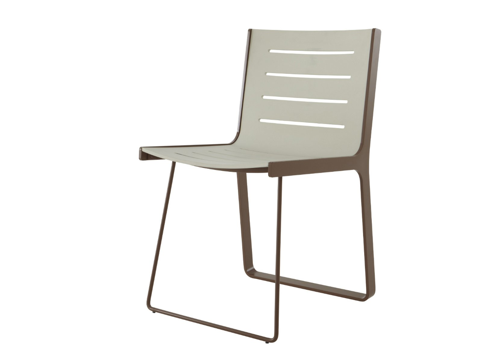 Plastic chair ALUCHAIR by ROSET ITALIA design Jacques Ferrier