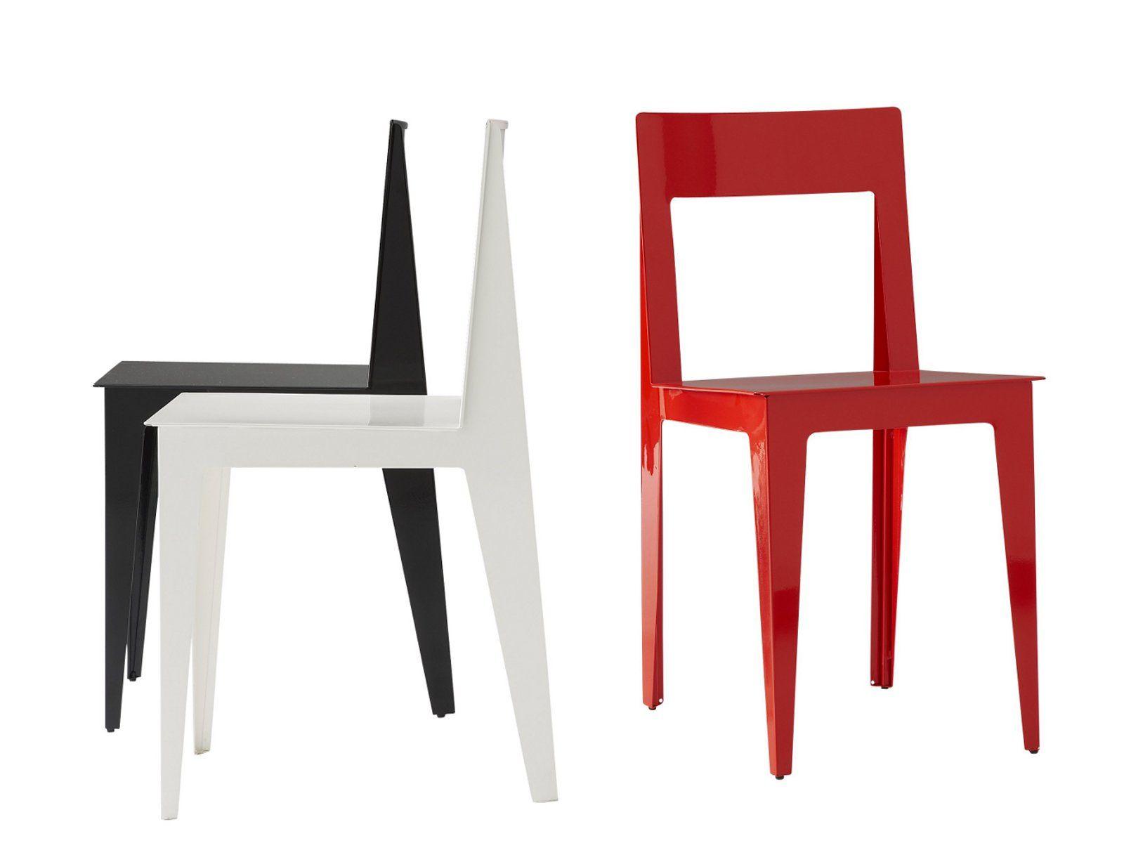 chaise en acier la pli e by roset italia design marie aurore stiker m tral. Black Bedroom Furniture Sets. Home Design Ideas
