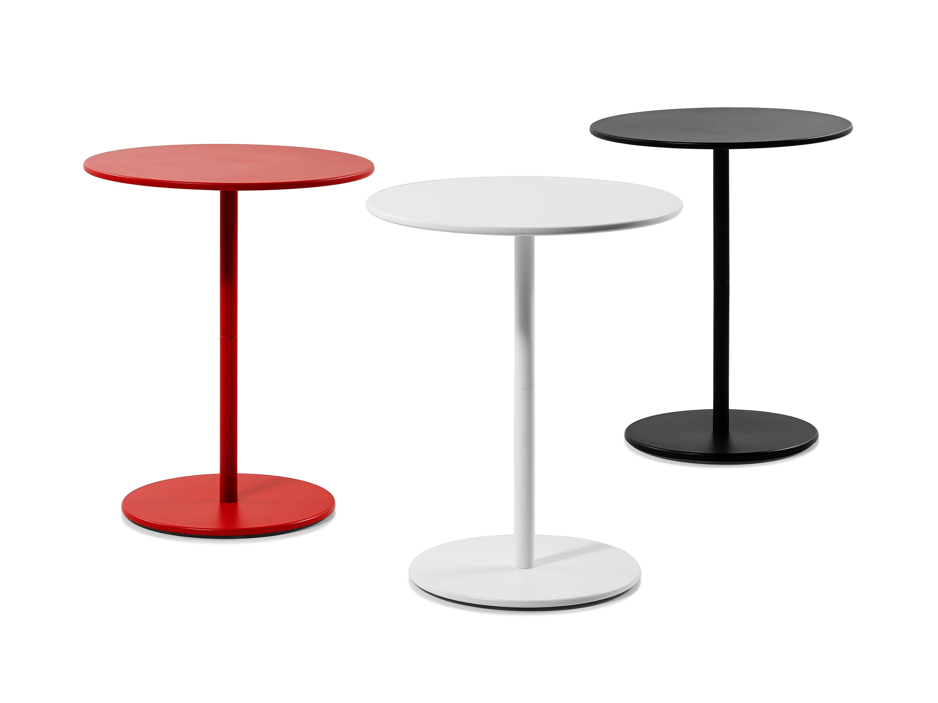 Round Steel Coffee Table Side By Plank Design Cisotti Laube