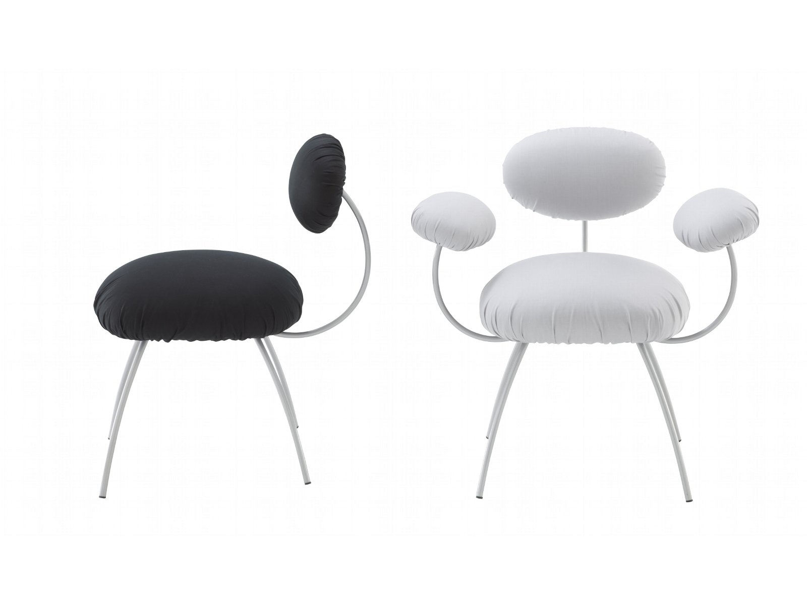 Upholstered chair with armrests saint james by roset for Atelier st jean chaise bercante