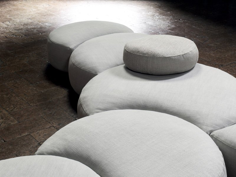 upholstered modular sofa pasticca by living divani