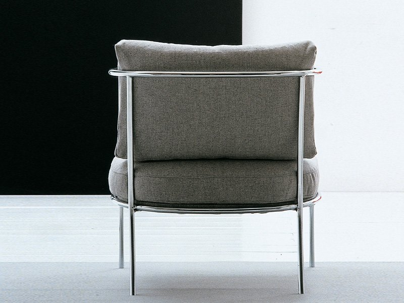 UPHOLSTERED STEEL ARMCHAIR CAFÉ COLLECTION BY LIVING ...