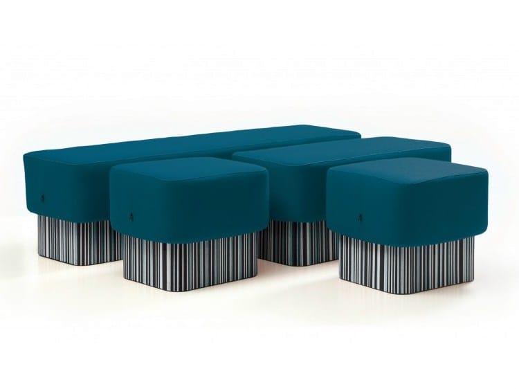 Banco tapizado de material reciclado buzziseat quatro by ...