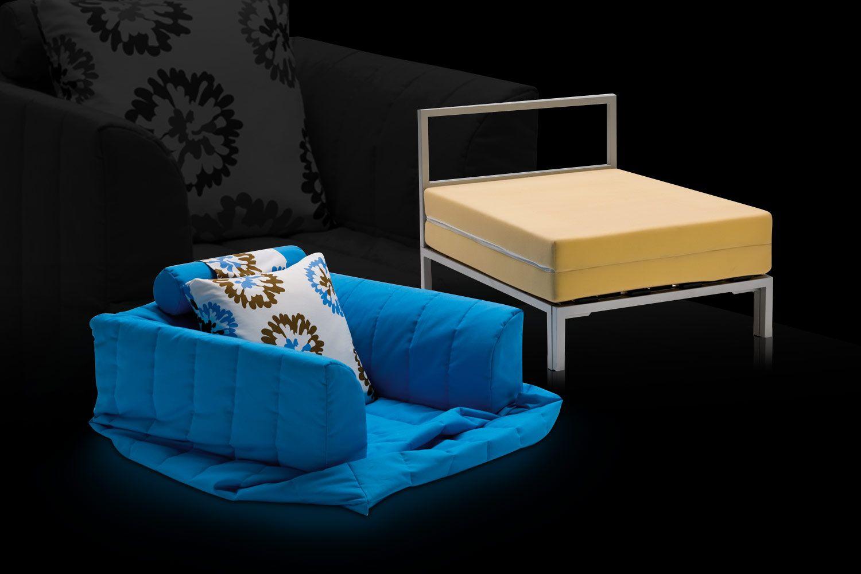 Pouf letto imbottito sfoderabile chick collezione ottoman - Pouf letto design ...