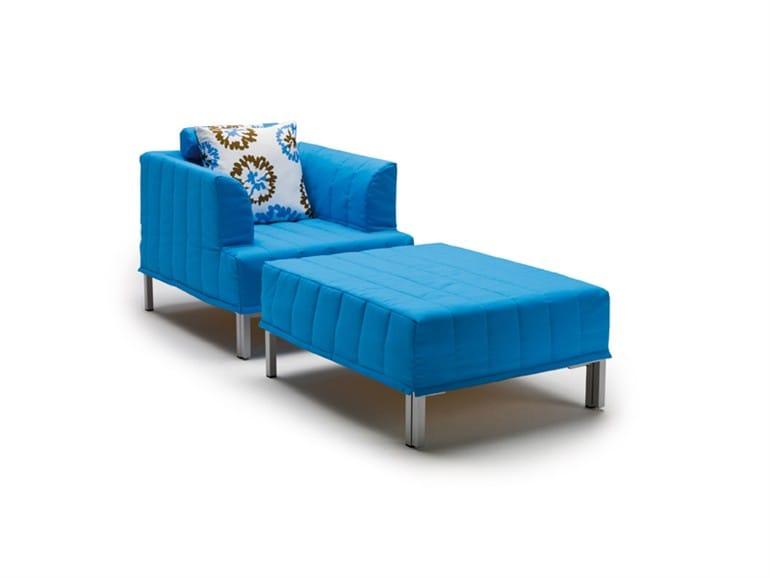 pouf lit rembourr avec rev tement amovible chick. Black Bedroom Furniture Sets. Home Design Ideas
