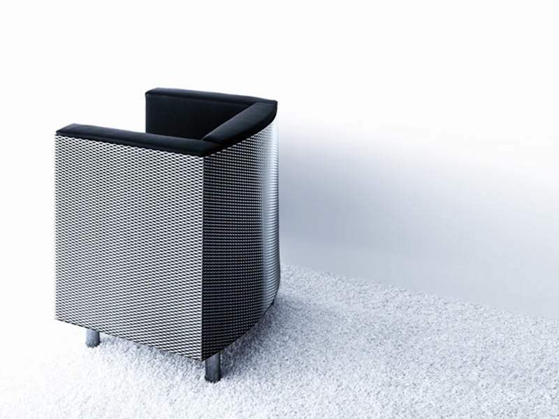 Upholstered armchair LOUNGE CHAIR FOR BRIDGESTONE by ...