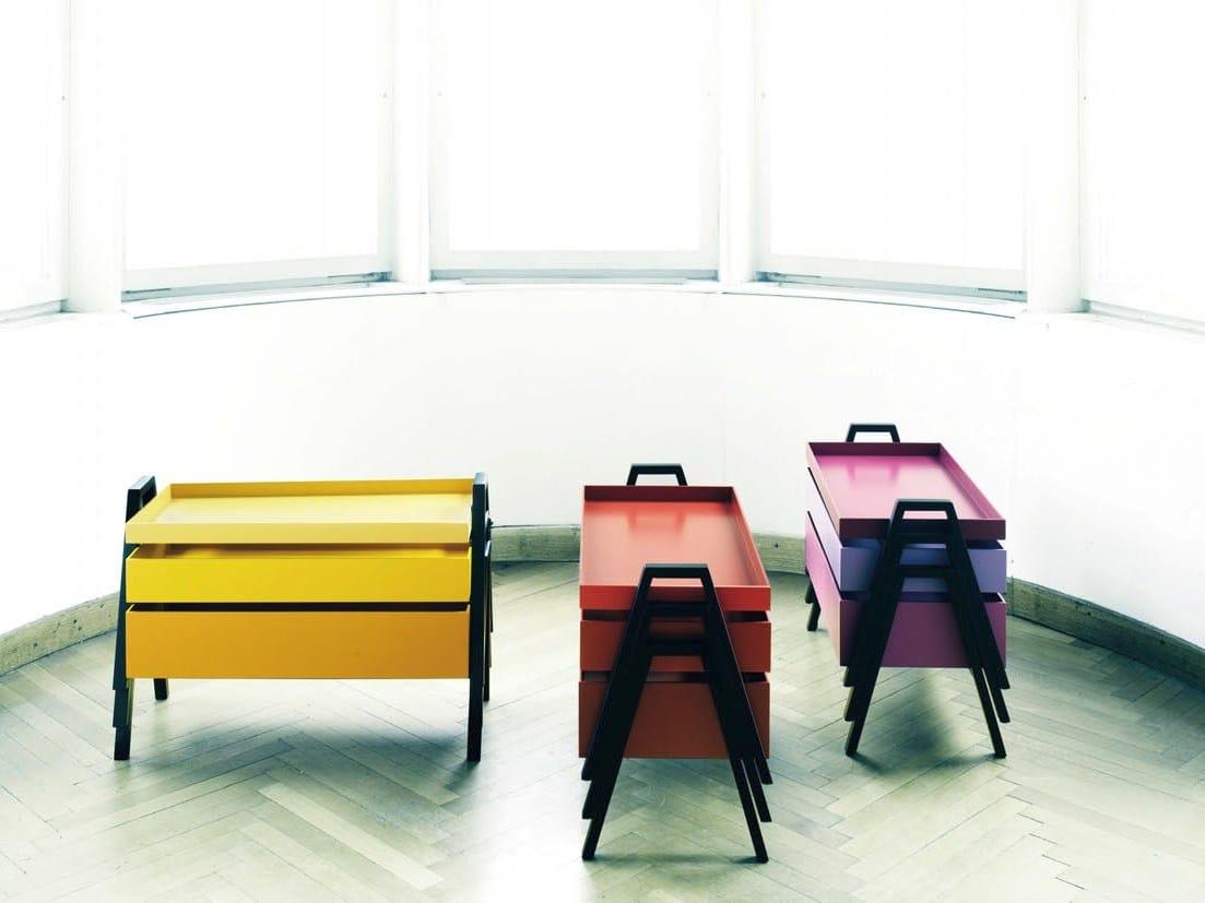 Table gigogne en bois stack by living divani design for Table gigogne en bois
