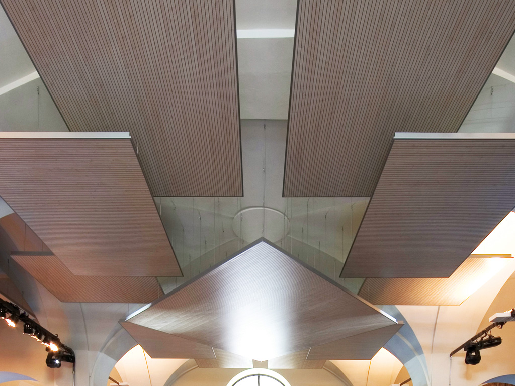 Mdf Acoustic Ceiling Clouds Isle By Fantoni