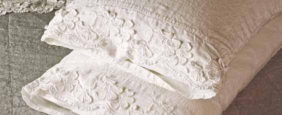 Petali coordinato letto by la fabbrica del lino by bergianti pagliani - La fabbrica del lino letto ...