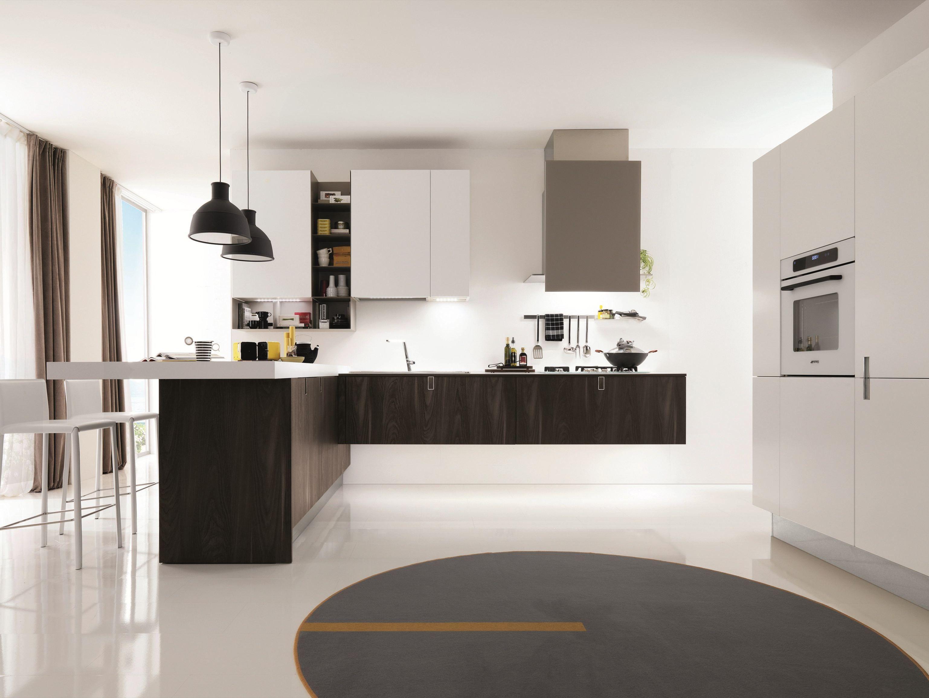 Cuisine int gr e de style contemporain laclip by euromobil - Cuisine style campagne contemporain ...