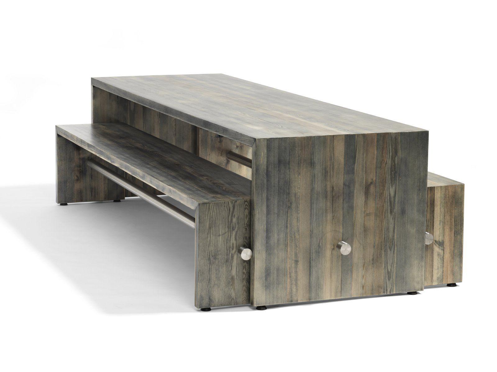 Ping pong tavolo by bl station design johan lindau - Fabrication d un banc de jardin en bois ...