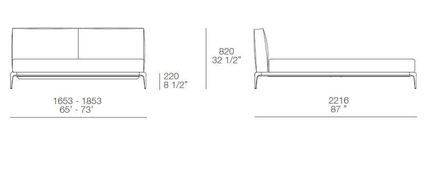 Park letto in pelle by poliform design carlo colombo - Letto singolo dwg ...