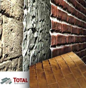 Rivestimento in vetroresina effetto mattone o pietra TOTAL Panel System™ by SpazioArreda
