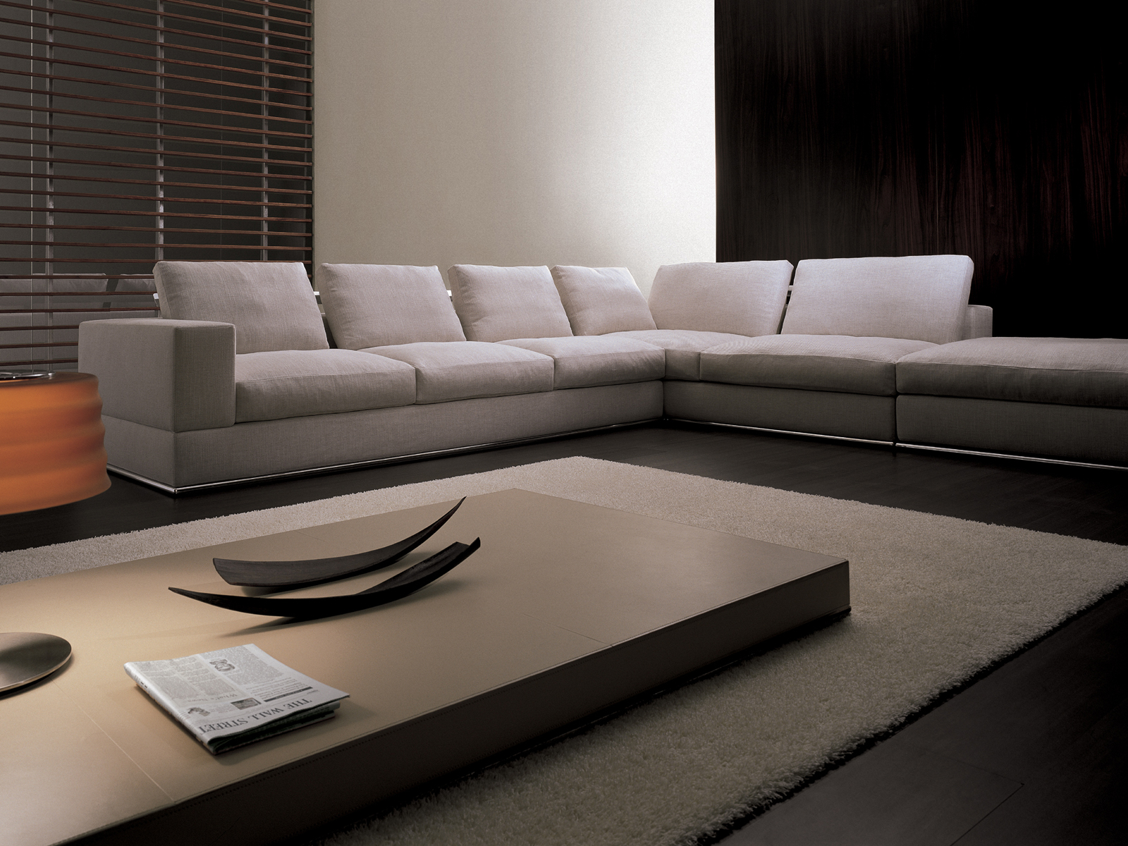 Keen corner sofa by i 4 mariani design mauro lipparini - Sofas en esquina ...