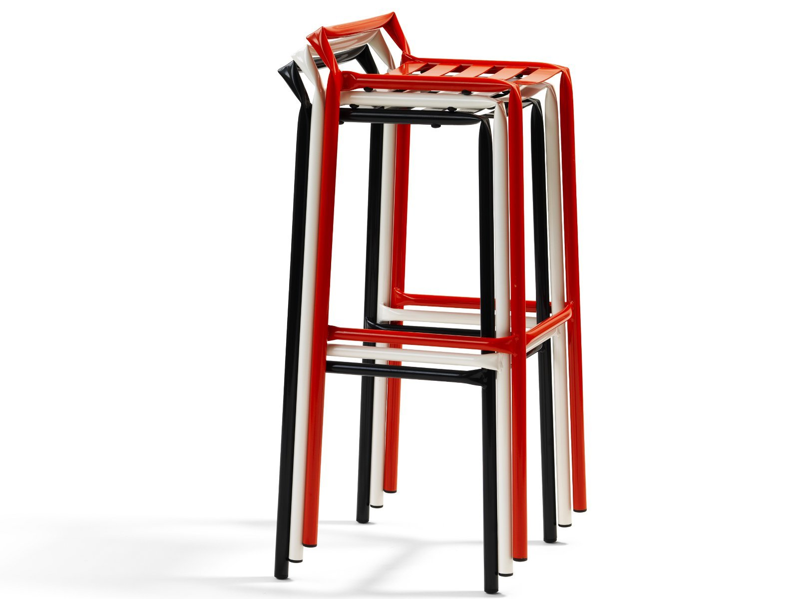 High Stool With Footrest Straw Collection By Bl 197 Station