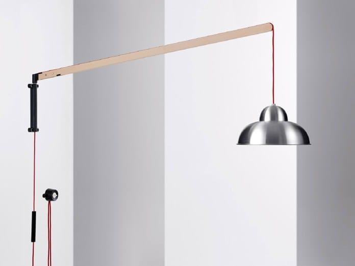Lampada da parete con braccio flessibile w084w by w stberg - Lampada da parete design ...