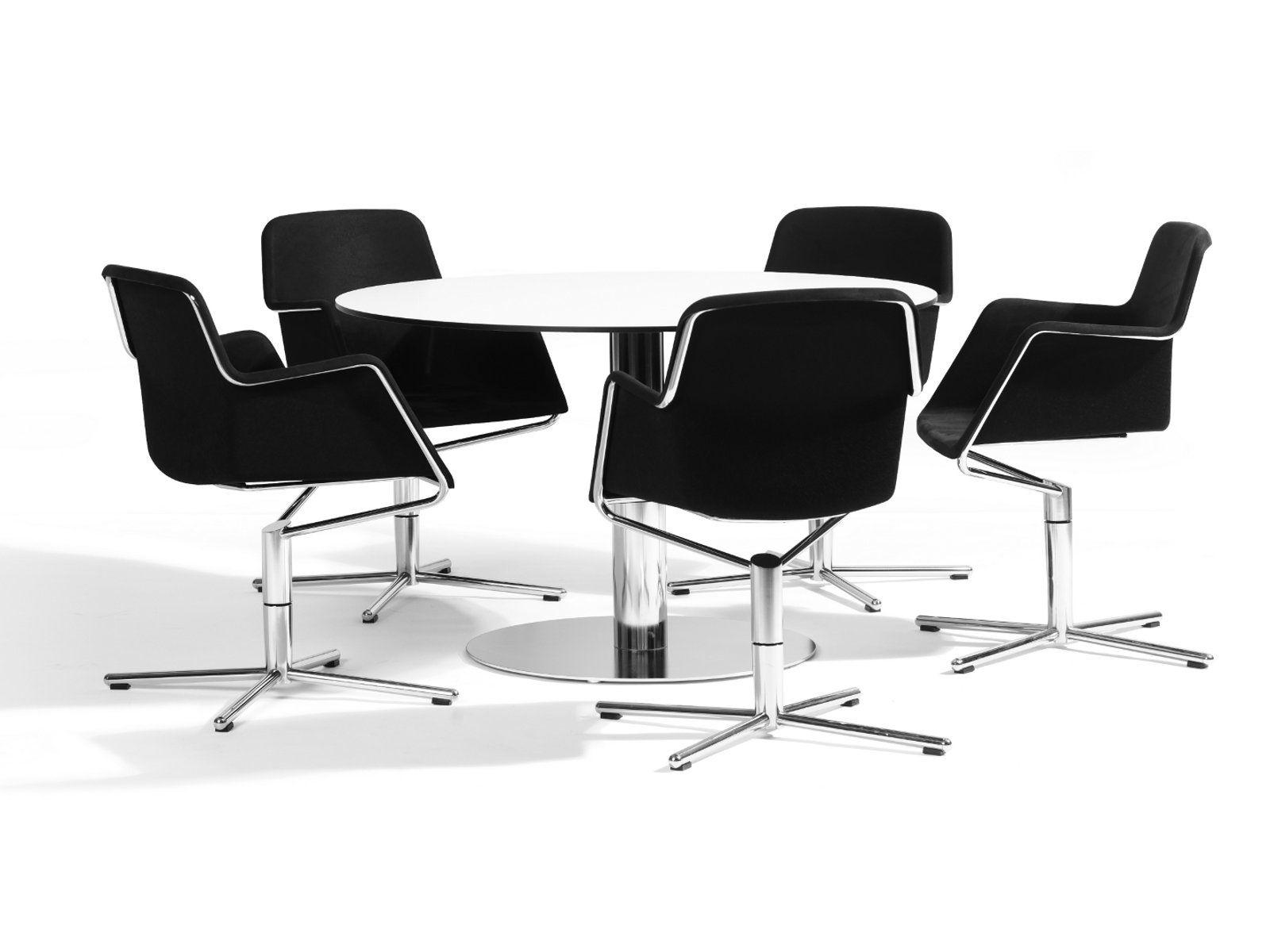 Drehbarer stuhl aus filz mit armlehnen peek kollektion for Design stuhl filz