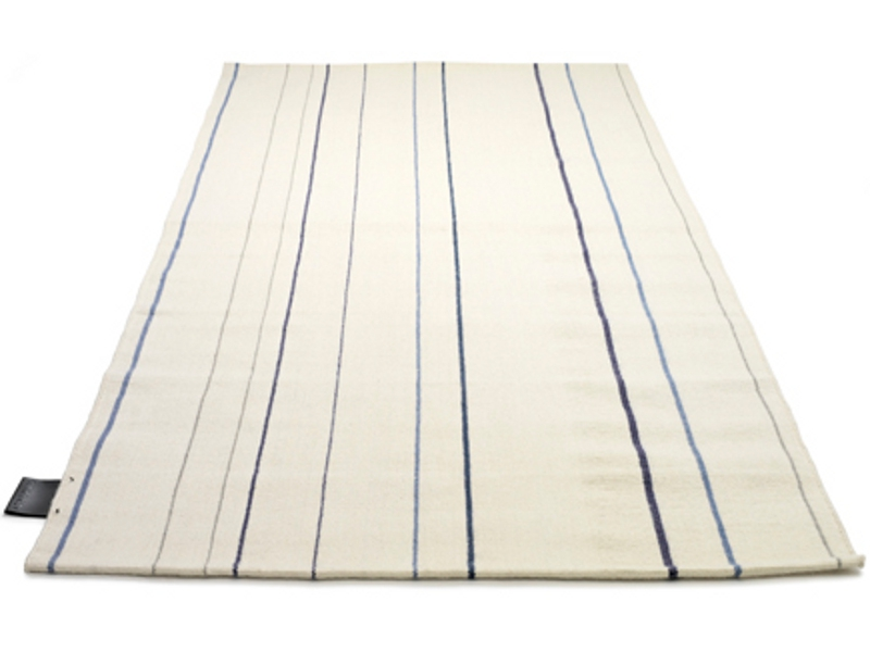 Streifen rechteckiger Teppich RAND KELIM BLUE by ASPLUND
