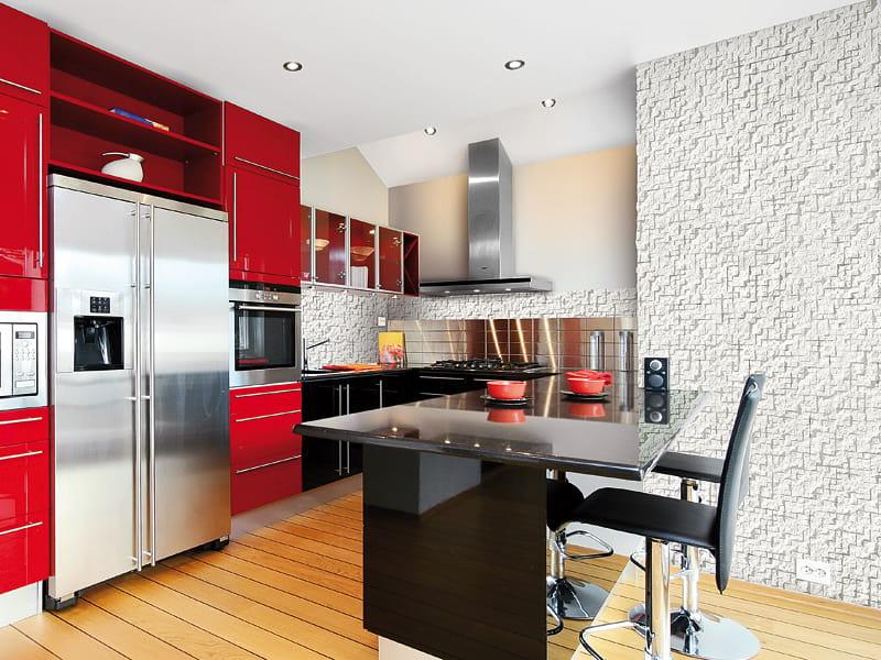 Revestimiento de pared 3d de piedra reconstituida para - Revestimientos de interiores ...