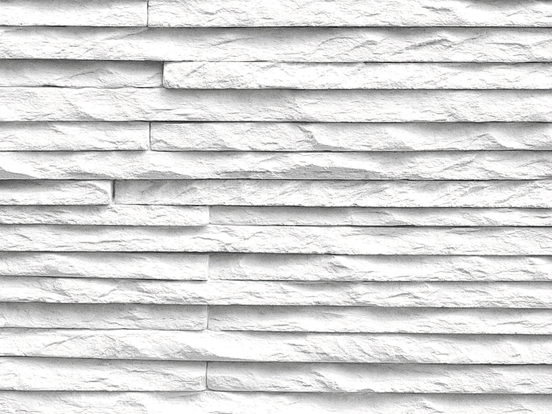 Rivestimento tridimensionale in pietra ricostruita per interni MONTE BIANCO b...