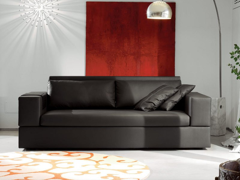 Fabric sofa bed with removable cover jaco by milano for Milano bedding