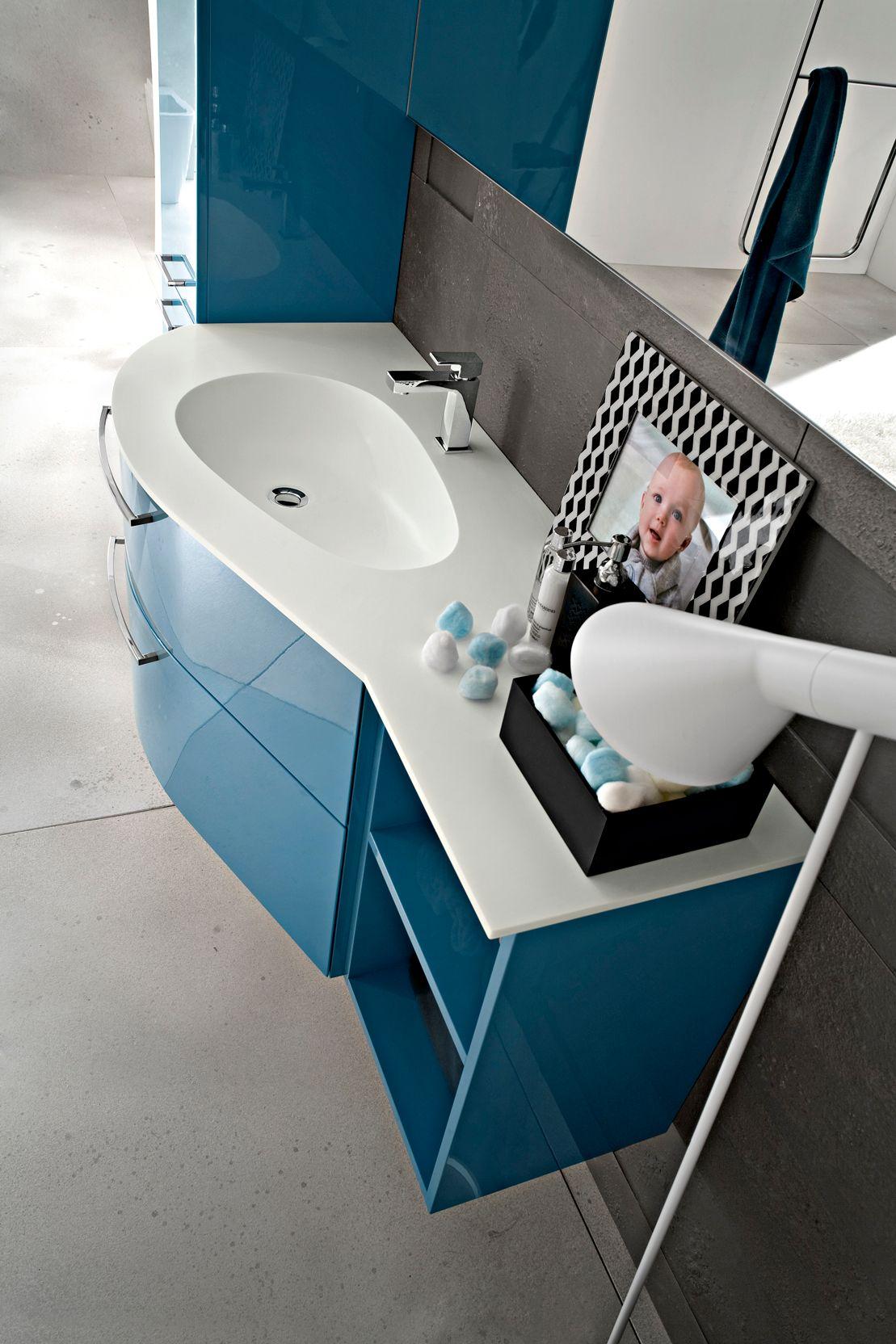 Imagens de #27475B Móvel lavatório suspenso com espelho PLAY Móvel lavatório lacado  1109x1664 px 3384 Bloco Cad Lavatório Banheiro