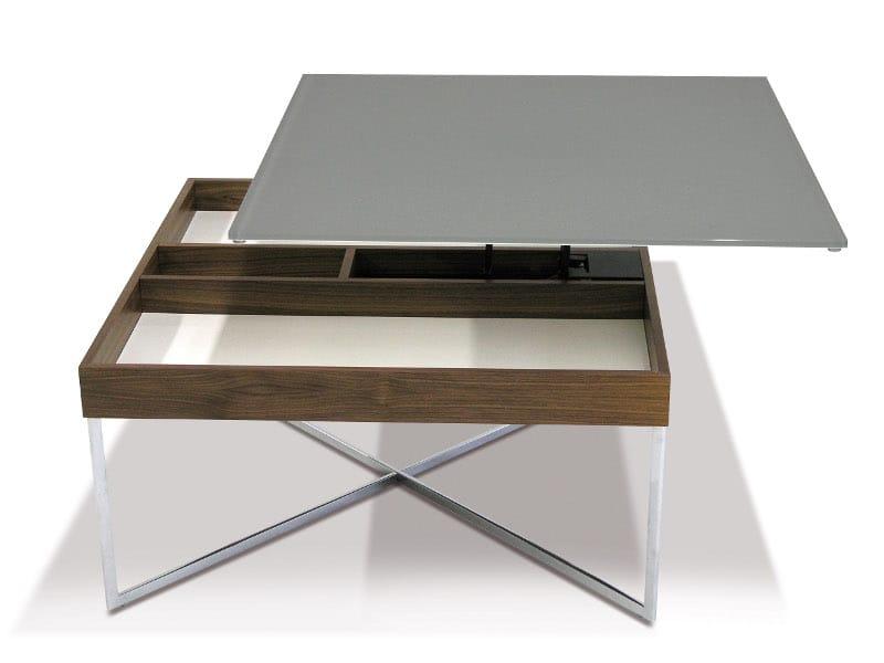 lackierter quadratischer couchtisch aus mdf pluto by ronald schmitt design jens reinwarth. Black Bedroom Furniture Sets. Home Design Ideas