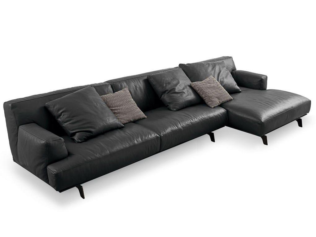 TRIBECA Leather Sofa By Poliform Design Jean Marie Massaud