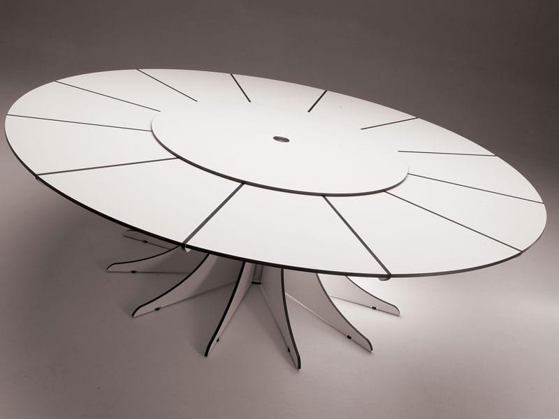 Tavolo da giardino rotondo arthur by extremis design dirk for Tavolo 10 persone