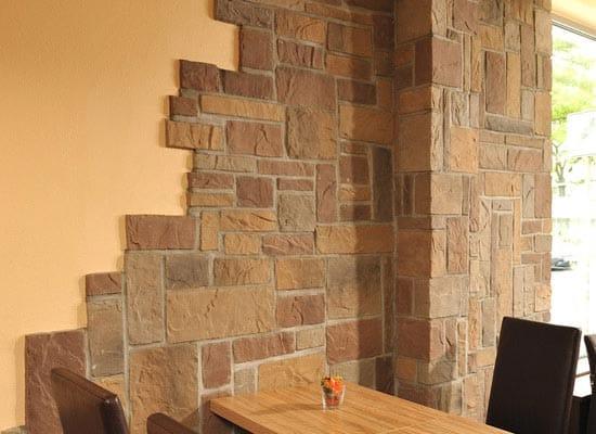 Plaquettes de parements en pierre reconstitu e murok - Piedra artificial para interiores ...