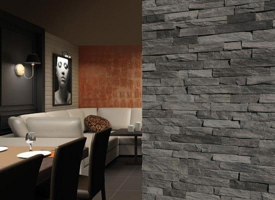 Pietra Da Interni Grigia : Pareti in pietra ricostruita per interni pavimenti e muri