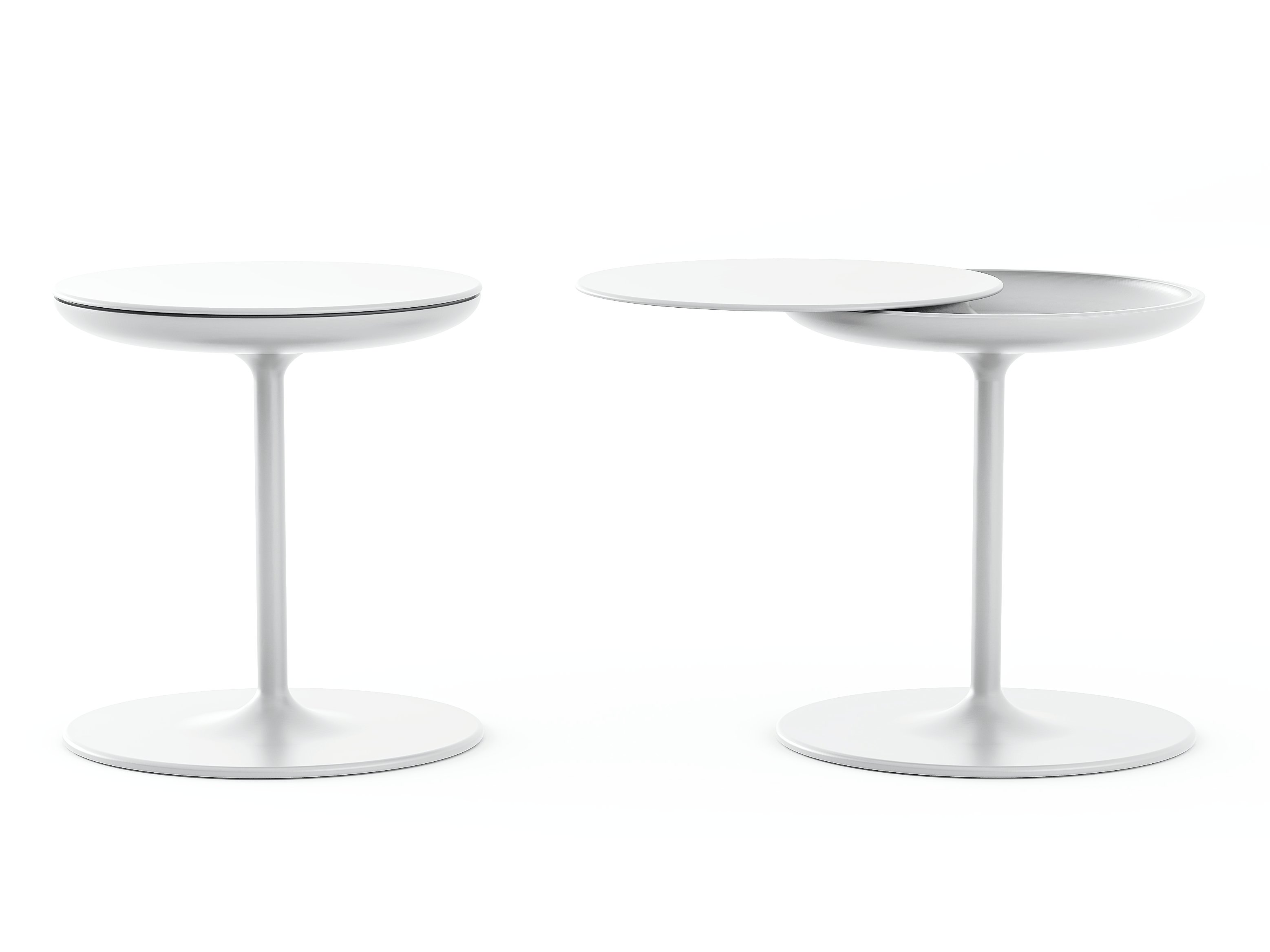 Round coffee table toi by zanotta design salvatore indriolo for Table zanotta