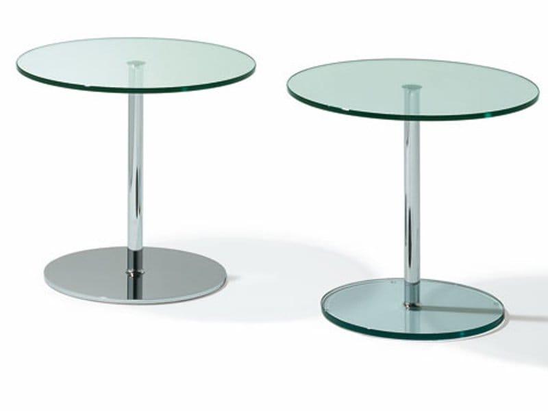 runder couchtisch aus glas k 124 by ronald schmitt. Black Bedroom Furniture Sets. Home Design Ideas
