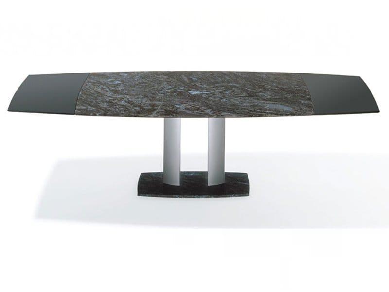 ausziehbarer esstisch aus stein g 2220 e by ronald. Black Bedroom Furniture Sets. Home Design Ideas