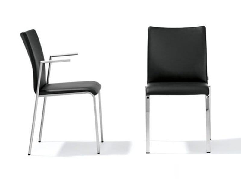 Stuhl aus leder sam rst 118 119 by ronald schmitt design lepper schmidt sommerlade designer - Architecture moderne residentielle schmidt lepper ...